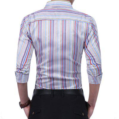 Business Vertical Striped Fashion Casual ShirtMens Shirts<br>Business Vertical Striped Fashion Casual Shirt<br><br>Collar: Turn-down Collar<br>Material: Cotton, Polyester<br>Package Contents: 1 xShirt<br>Shirts Type: Casual Shirts<br>Sleeve Length: Full<br>Weight: 0.2500kg