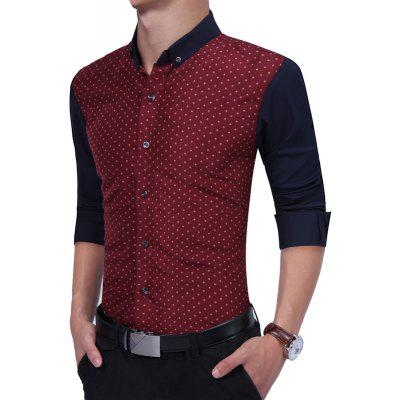 Casual Long Sleeved ShirtMens Shirts<br>Casual Long Sleeved Shirt<br><br>Collar: Turn-down Collar<br>Material: Cotton, Polyester<br>Package Contents: 1 x Shirt<br>Shirts Type: Casual Shirts<br>Sleeve Length: Full<br>Weight: 0.2500kg