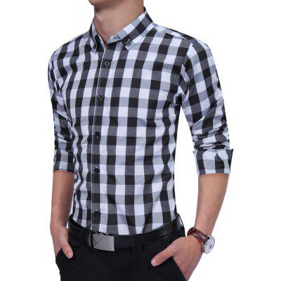 Teenagers All-Match Lattice Long Sleeved ShirtMens Shirts<br>Teenagers All-Match Lattice Long Sleeved Shirt<br><br>Collar: Turn-down Collar<br>Material: Cotton, Polyester<br>Package Contents: 1 xShirt<br>Shirts Type: Formal Shirts<br>Sleeve Length: Full<br>Weight: 0.2500kg