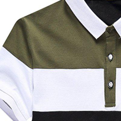 Half Sleeved Fashion Splicing POLO ShirtMens Short Sleeve Tees<br>Half Sleeved Fashion Splicing POLO Shirt<br><br>Collar: Turn-down Collar<br>Color Style: Contrast Color<br>Fabric Type: Broadcloth<br>Material: Cotton, Polyester<br>Package Contents: 1 x POLO Shirt<br>Pattern Type: Others<br>Sleeve Length: Short<br>Style: Casual<br>Type: Slim<br>Weight: 0.2500kg