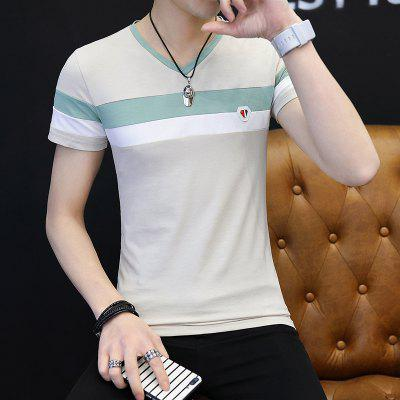 All-Match Leisure Fashion T-ShirtMens Short Sleeve Tees<br>All-Match Leisure Fashion T-Shirt<br><br>Collar: Round Neck<br>Material: Cotton, Polyester<br>Package Contents: 1 x T-shirt<br>Pattern Type: Others<br>Sleeve Length: Short Sleeves<br>Style: Casual<br>Weight: 0.3000kg