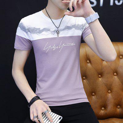 All-Match Fashion Casual T-ShirtMens Short Sleeve Tees<br>All-Match Fashion Casual T-Shirt<br><br>Collar: Round Neck<br>Material: Cotton, Polyester<br>Package Contents: 1 xT-shirt<br>Pattern Type: Others<br>Sleeve Length: Short Sleeves<br>Style: Casual<br>Weight: 0.3000kg