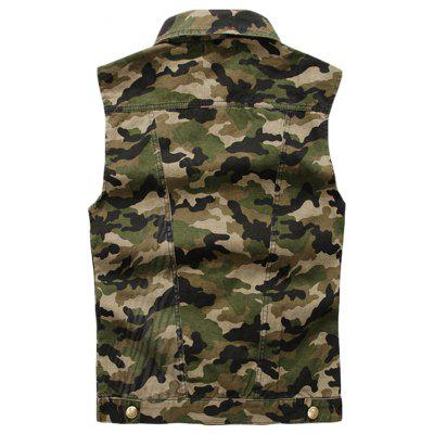 Mens Labeling Camouflage Sleeveless Vest JacketMens Jackets &amp; Coats<br>Mens Labeling Camouflage Sleeveless Vest Jacket<br><br>Clothes Type: Jackets<br>Collar: Turn-down Collar<br>Material: Cotton, Acrylic, Acetate<br>Package Contents: 1 xCowboy Vest<br>Season: Spring, Summer, Fall<br>Shirt Length: Regular<br>Sleeve Length: Sleeveless<br>Style: Casual<br>Weight: 0.5000kg