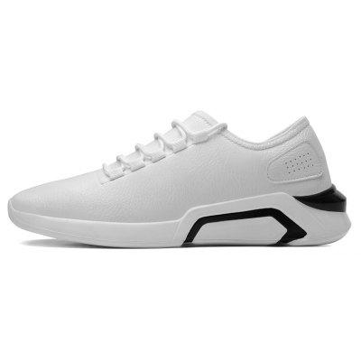PU Leather Rubber Sole Men Sports ShoesMen's Sneakers<br>PU Leather Rubber Sole Men Sports Shoes<br><br>Available Size: 41 42 43 44<br>Closure Type: Lace-Up<br>Feature: Waterproof<br>Gender: For Men<br>Outsole Material: EVA<br>Package Contents: 1 xshoes(pair)<br>Package Size(L x W x H): 33.00 x 25.00 x 13.00 cm / 12.99 x 9.84 x 5.12 inches<br>Package weight: 1.0000 kg<br>Pattern Type: Patchwork<br>Season: Spring/Fall<br>Upper Material: PU