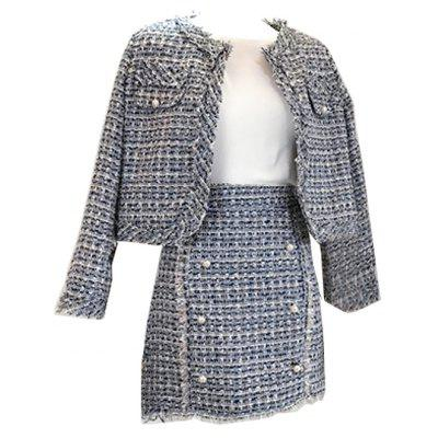 Tweed Sweet Small Coat and Skirt Suit