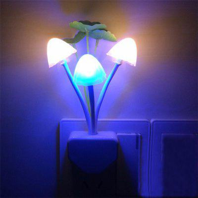 Mushroom Fungus Night Light Sensor 3 LED Colorful Mushroom Lamp Led for Baby