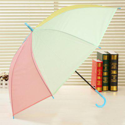 Long Handle Frosted PVC Plastic Environmental Protection Umbrella