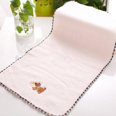 2 Pcs Face Towels Lovely Cartoon Dog Pattern Soft Towels