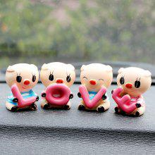 4PCS/LOT Resin LOVE Pig Dolls Car Ornaments Cute Lovely Auto Interior Decoration Creative Cartoon Dolls Car Styling