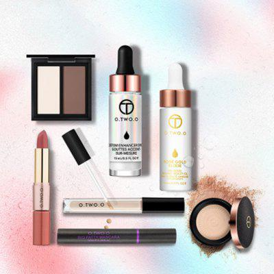 OTWOO Make Up Set Powder 24K Gold Face Oil Brighten Concealer Lipstick