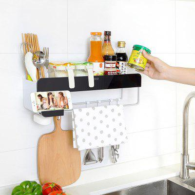 No Hole in The Kitchen Rack for Placing Tool BottlesOther Kitchen Accessories<br>No Hole in The Kitchen Rack for Placing Tool Bottles<br><br>Material: Plastic, Aluminium<br>Package Contents: 1 x Kitchen Rack, 1x Non-trace Stick<br>Package size (L x W x H): 41.00 x 13.50 x 13.00 cm / 16.14 x 5.31 x 5.12 inches<br>Package weight: 0.8000 kg<br>Product size (L x W x H): 40.00 x 13.00 x 12.00 cm / 15.75 x 5.12 x 4.72 inches<br>Type: Other Kitchen Accessories