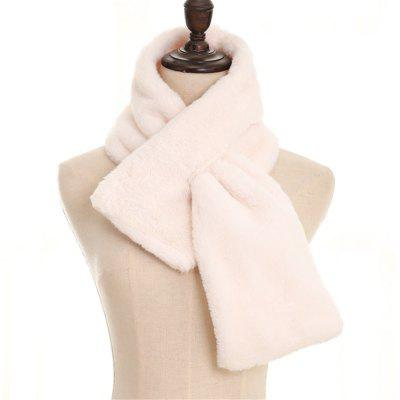 Imitation Rabbit Pure Cross Cross Plush Scarf