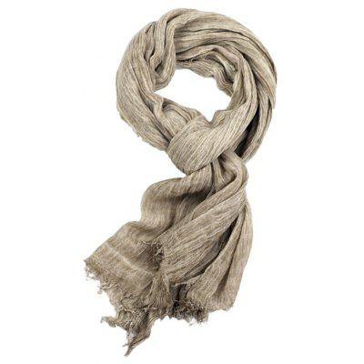Tie Stained Fringed Zou Cotton Linen Scarf