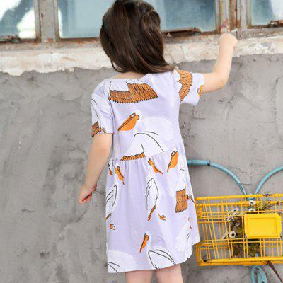 New Girls Red Crowned Crane Princess SkirtGirls dresses<br>New Girls Red Crowned Crane Princess Skirt<br><br>Dresses Length: Knee-Length<br>Material: Cotton<br>Package Contents: 1 x Dress<br>Pattern Type: Animal<br>Silhouette: A-Line<br>Style: Cute<br>Weight: 0.1200kg<br>With Belt: No