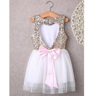 New Type Sequined Halter DressGirls dresses<br>New Type Sequined Halter Dress<br><br>Dresses Length: Knee-Length<br>Material: Cotton<br>Package Contents: 1 x Dress<br>Pattern Type: Others<br>Silhouette: A-Line<br>Style: British<br>Weight: 0.1300kg<br>With Belt: No