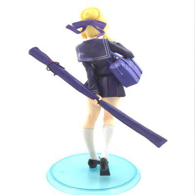 18CM Height School Uniform Girl Cartoon Action Figure Collectible Toy