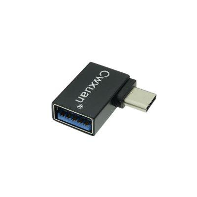 Cwxuan Right Angled 90 Degree Design USB 3.1 Тип-C К USB 3.0 Женский адаптер OTG