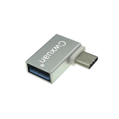Cwxuan Right Angled 90 Degree Design USB 3.1 Type-C To USB 3.0 Female OTG Adapter
