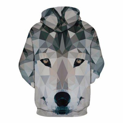 Trendy Creative Wolf Hood HoodieMens Hoodies &amp; Sweatshirts<br>Trendy Creative Wolf Hood Hoodie<br><br>Fabric Type: Broadcloth<br>Material: Cotton<br>Package Contents: 1 x hoodie<br>Shirt Length: Regular<br>Sleeve Length: Full<br>Style: Fashion<br>Weight: 0.4500kg