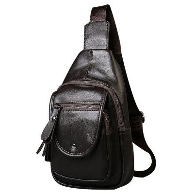 Leather Casual Small Unbalance Backpack Fashion Korean Chest Pack