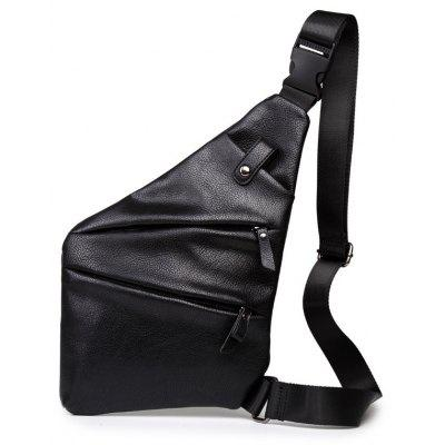 Fashion Leather Unbalance Backpack Small Crossbody Bag Chest Pack