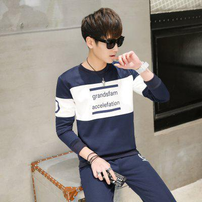 Letter Print Sweatshirt and Pants SuitMens Hoodies &amp; Sweatshirts<br>Letter Print Sweatshirt and Pants Suit<br><br>Material: Cotton Blends<br>Package Contents: 1 X Sweatshirt , 1 X Pants<br>Shirt Length: Regular<br>Sleeve Length: Full<br>Style: Active<br>Weight: 0.6000kg
