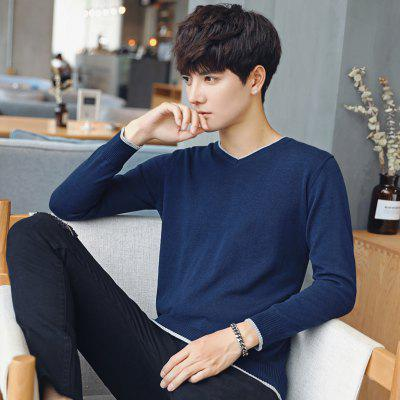Mens Fashion V Collar SweaterMens Sweaters &amp; Cardigans<br>Mens Fashion V Collar Sweater<br><br>Collar: V-Neck<br>Material: Cotton<br>Package Contents: 1 X Sweater<br>Package size (L x W x H): 1.00 x 1.00 x 1.00 cm / 0.39 x 0.39 x 0.39 inches<br>Package weight: 0.3000 kg<br>Size1: M,L,XL,4XL,2XL,3XL,5XL<br>Sleeve Length: Full<br>Type: Pullovers