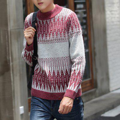 Mens Sweater Fashion Geometric Color Block Casual PulloverMens Sweaters &amp; Cardigans<br>Mens Sweater Fashion Geometric Color Block Casual Pullover<br><br>Collar: Round Neck<br>Material: Acrylic<br>Package Contents: 1 x Sweater<br>Package size (L x W x H): 1.00 x 1.00 x 1.00 cm / 0.39 x 0.39 x 0.39 inches<br>Package weight: 0.4000 kg<br>Size1: M,L,XL,2XL,3XL<br>Sleeve Length: Full<br>Sleeve Style: Regular<br>Style: Casual<br>Thickness: Standard<br>Type: Pullovers