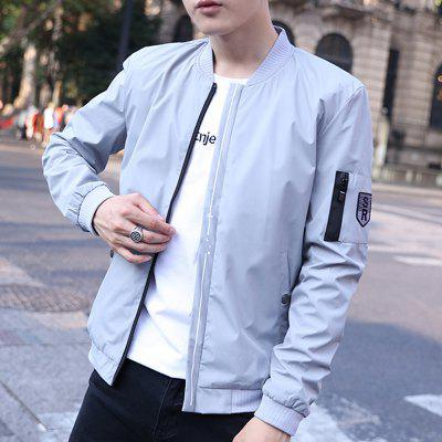 Mens Casual Jacket Zipper All Match Outdoor JacketMens Jackets &amp; Coats<br>Mens Casual Jacket Zipper All Match Outdoor Jacket<br><br>Clothes Type: Jackets<br>Collar: V-Neck<br>Material: Polyester<br>Package Contents: 1 x Jacket<br>Season: Spring<br>Shirt Length: Regular<br>Sleeve Length: Long Sleeves<br>Style: Casual<br>Weight: 0.5000kg