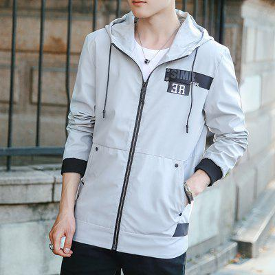 Mens Casual Jacket Chic Hooded All Match Outdoor JacketMens Jackets &amp; Coats<br>Mens Casual Jacket Chic Hooded All Match Outdoor Jacket<br><br>Clothes Type: Jackets<br>Collar: Hooded<br>Material: Polyester<br>Package Contents: 1 x Jacket<br>Season: Spring<br>Shirt Length: Regular<br>Sleeve Length: Long Sleeves<br>Style: Casual<br>Weight: 0.5000kg