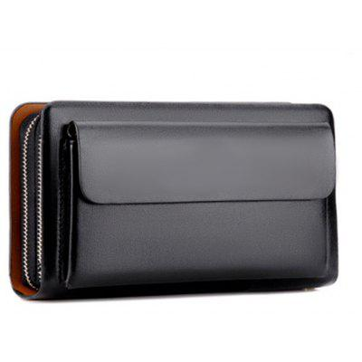Small Wallet Male Clutch Card Holder Wallet Men Leather Male Coin Purse Portable Men Wallets Hasp Money Bags