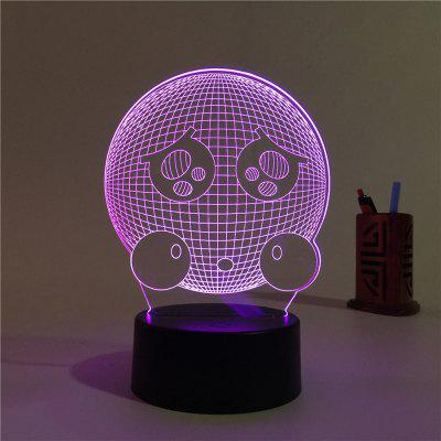 3D Expression Remote Control Board USB Touch 7 Color Night Light LED Bedroom Bedside Lamp