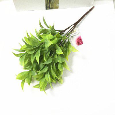 4 pcs simulation chicken heart leaves green leaf bouquet artificial