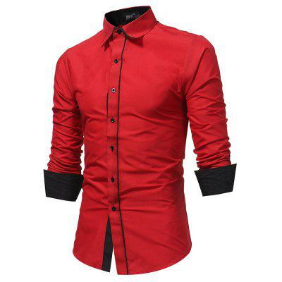 New Mens Fashion Business Casual Slim ShirtMens Shirts<br>New Mens Fashion Business Casual Slim Shirt<br><br>Collar: Turn-down Collar<br>Fabric Type: Polyester<br>Material: Polyester, Cotton Blends<br>Package Contents: 1xShirt<br>Shirts Type: Casual Shirts<br>Sleeve Length: Full<br>Weight: 0.2300kg