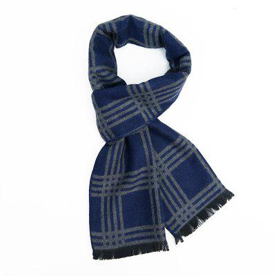 Men's Long Plaid Warm Scarf