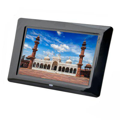 LD701 New 7 inch Digital Photo Frame Electronic Album Picture/Music/Video Full FunctionDigital Photo Frame<br>LD701 New 7 inch Digital Photo Frame Electronic Album Picture/Music/Video Full Function<br><br>Aspect Ratio: 16:9<br>Auto play: Music,Photo,Video,OFF,Photo and Music,Mix play<br>Auto power-off: OFF<br>Auto power-on: OFF<br>Frame material: Plastic<br>Function: Picture with Music, Movie, Alarm Clock, Music, Remote Control, Calendar, MP3, Video Playback<br>Internal memory: 16MB<br>Memory medium: MMC,U-disk,SD<br>Model: LD701<br>Music support: WMA, MP3<br>Optional Language: English,French,Spanish,Portuguese,Russian,German,Italian,Turkish,Simplified Chinese,Traditional Chinese,Polski,Deutsch,Nederlands<br>Package Contents: 1 x Digital Photo Frame, 1 x Remote Control, 1 x Button Battery, 1 x Power Adapter, 1 x User Manual ( English )<br>Package size (L x W x H): 32.50 x 20.50 x 6.00 cm / 12.8 x 8.07 x 2.36 inches<br>Package weight: 0.5200 kg<br>Photo support: BMP, JPEG, JPG<br>Ports: USB, DC Charging, 3.5mm Audio Out, Mini USB<br>Product size (L x W x H): 20.50 x 14.20 x 1.80 cm / 8.07 x 5.59 x 0.71 inches<br>Product weight: 0.2700 kg<br>Screen type: TFT<br>Video support: AVI, DAT, MPEG2, MPEG1, MPEG4, VOB