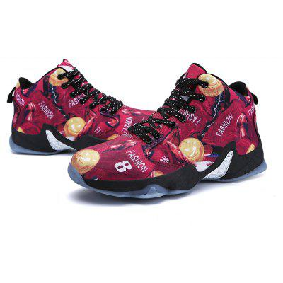 Camouflage Basketball Non-Slip Breathable Sports Running ShoesMen's Sneakers<br>Camouflage Basketball Non-Slip Breathable Sports Running Shoes<br><br>Available Size: 39-45<br>Closure Type: Lace-Up<br>Feature: Breathable<br>Gender: For Men<br>Outsole Material: Rubber<br>Package Contents: 1 x shoes (pair)<br>Package Size(L x W x H): 33.00 x 22.00 x 15.00 cm / 12.99 x 8.66 x 5.91 inches<br>Package weight: 0.9000 kg<br>Pattern Type: Print<br>Season: Spring/Fall<br>Shoe Width: Medium(B/M)<br>Upper Material: PU