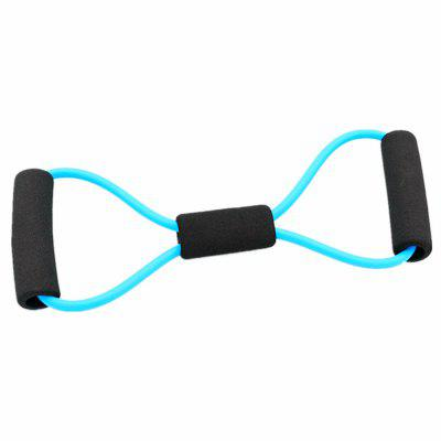 Useful Fitness Equipment Tube Workout Exercise Elastic Resistance Band for Yoga Fitness Pilates Workout