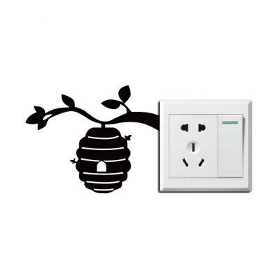 Buy KG-248 Natural Style Honeycomb Light Switch Sticker Cartoon Vinyl Wall Stickers, BLACK, Home & Garden, Home Decors, Wall Art, Wall Stickers for $1.75 in GearBest store