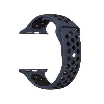 Soft Silicone Sport Replacement Band with Ventilation Holes for Apple Watch Series 3 / 2 / 1 42MM