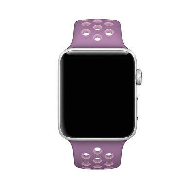 Soft Silicone Sport Replacement Band with Ventilation Holes for Apple Watch Series 3 / 2 / 1 38MMWatch Accessories<br>Soft Silicone Sport Replacement Band with Ventilation Holes for Apple Watch Series 3 / 2 / 1 38MM<br><br>Material: Silicone<br>Package Contents: 1 x Band<br>Package size (L x W x H): 20.00 x 6.00 x 2.00 cm / 7.87 x 2.36 x 0.79 inches<br>Package weight: 0.0500 kg<br>Product size (L x W x H): 18.00 x 2.20 x 0.50 cm / 7.09 x 0.87 x 0.2 inches<br>Product weight: 0.0400 kg<br>Type: Smart watch / wristband band