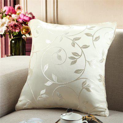 Gyrohome Jacquard Flower Leafs  Cushion Covers Pillows