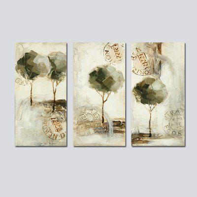 QiaoJiaHuaYuan No Frame Canvas Living Room Sofa Background Triplets Modern Simple Abstract Decoration Hanging Paintings