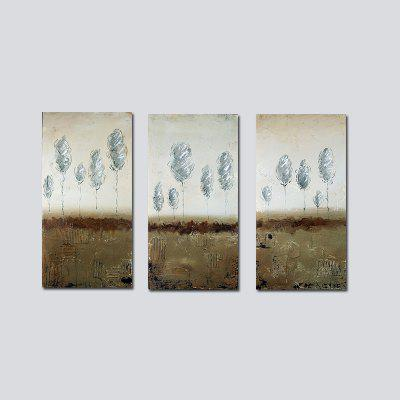 QiaoJiaHuaYuan No Frame Canvas Modern Simple Living Room Sofa Background Three Pieces of Decoration Painting Abstract Pi