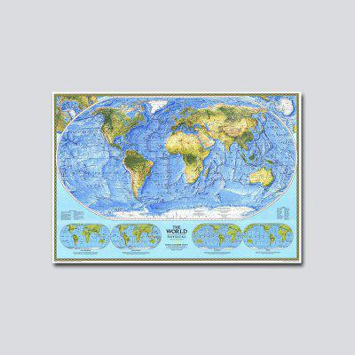 QiaoJiaHuaYuan No Frame Canvas Living Room Sofa Background World Map Decoration Hanging Picture