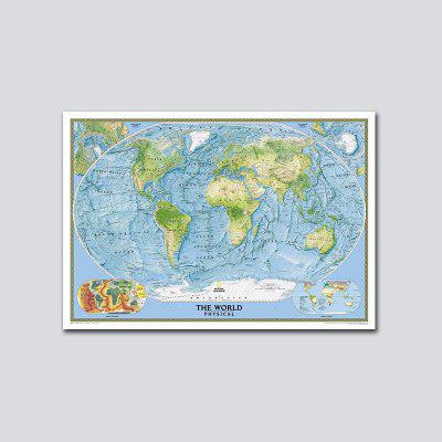 QiaoJiaHuaYuan No Frame Canvas Living Room Bedroom Office Decoration Hangs the World Map