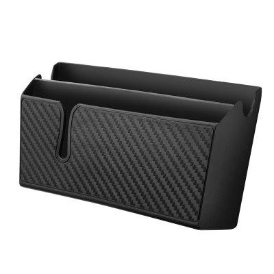 Carbon Fiber Grain Paste Type Car Storage Box Holder Flexible Glue Surface Cellphone Holder Surface Stowing Tidying