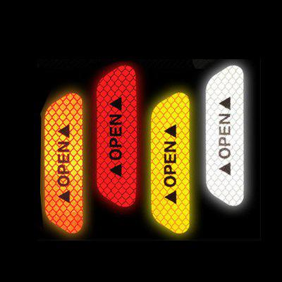 4pcs Universal Exterior Accessories Auto Warning Mark OPEN Car Door Stickers Sign Safety Reflective TapeOther Car Gadgets<br>4pcs Universal Exterior Accessories Auto Warning Mark OPEN Car Door Stickers Sign Safety Reflective Tape<br><br>Apply To Car Brand: Universal<br>Features: Durable<br>Package Contents: 4 x Car Reflective Tape<br>Package size (L x W x H): 10.00 x 3.00 x 1.00 cm / 3.94 x 1.18 x 0.39 inches<br>Package weight: 0.0100 kg<br>Product size (L x W x H): 9.30 x 2.00 x 0.10 cm / 3.66 x 0.79 x 0.04 inches<br>Product weight: 0.0080 kg