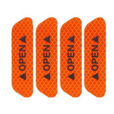 4pcs Universal Exterior Accessories Auto Warning Mark OPEN Car Door Stickers Sign Safety Reflective Tape