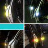4pcs Universal Exterior Accessories Auto Warning Mark OPEN Car Door Stickers Sign Safety Reflective Tape - WHITE
